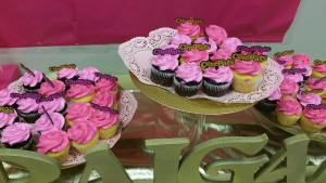 Cupcakes on Gold stand